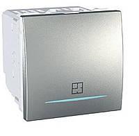 Таймер нажимной электронный 8А Schneider Electric Unica Алюминий (MGU3.535.30)