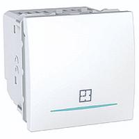 Таймер нажимной электронный 8А Schneider Electric Unica Белый (MGU3.535.18)