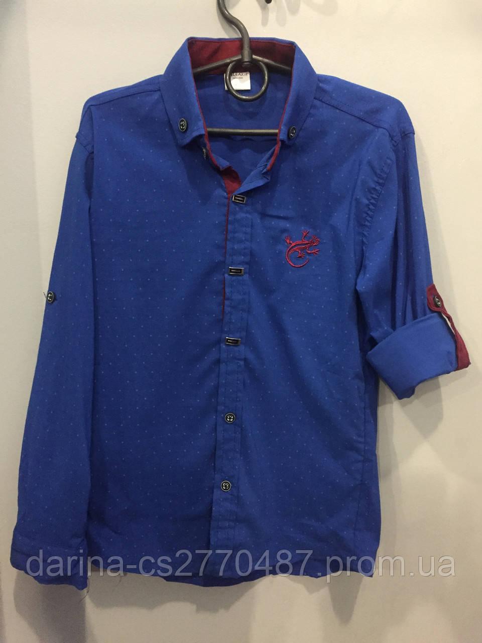 Рубашка на мальчика рукав трансформер 10,12 л