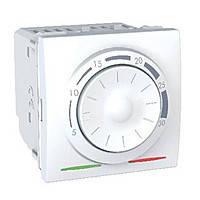 Термостат кондиционирование и отопление (8А/+5...30°С) Schneider Electric Unica Белый (MGU3.501.18)