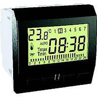 Цифровой программируемый термостат (8А/+5-35°С) Schneider Electric Unica Графит (MGU3.505.12)