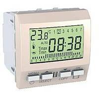 Цифровой программируемый термостат (8А/+5-35°С) Schneider Electric Unica Слоновая Кость (MGU3.505.25)