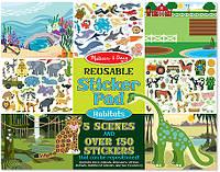 Набор многоразовых наклеек Melissa & Doug Места обитания животных (MD14196)