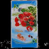 Большой фотоальбом на 300 фотографий с цветной ламинированной полиграфией, Цветы