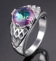 Изысканное женское кольцо с мистик топазом 16р 17р 18р