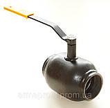 Кран шаровый стальной полнопроходной резьбовой 11с39п Ду32 Ру25, фото 2