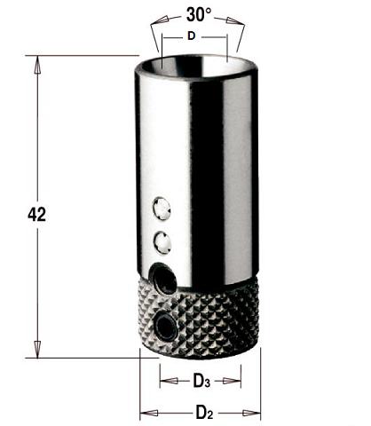 Патрон для сверлильно-присадочных станков L = 42 мм, D = 18 мм