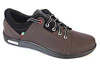 Туфли спортивный на шнурках мужские коричневый  Pilot - T-16