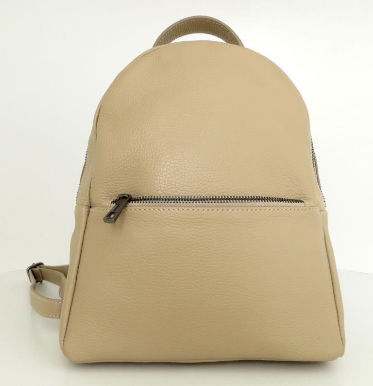 Рюкзак молодіжний, жіночий. 100% натуральна шкіра! Бежевий