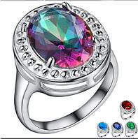 Стильное женское кольцо с мистик топазом 16р 17р 18р, фото 1