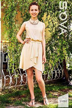 Платье женское летнее с асимметричной юбкой