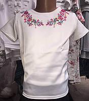 Блуза для девочки с красивой вышивкой 0407/7