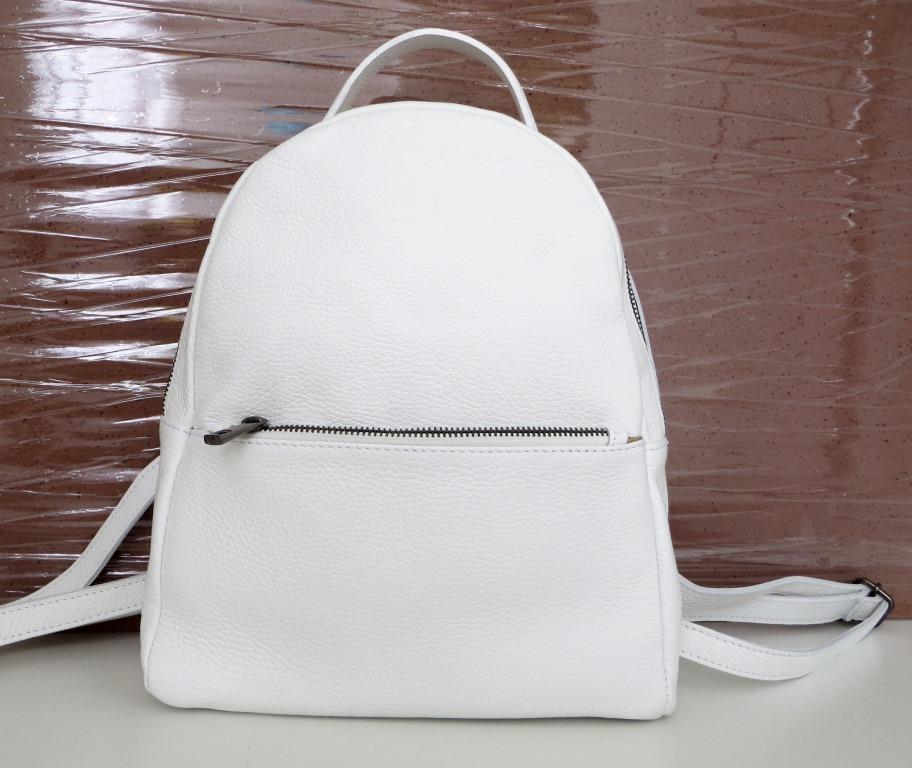 Рюкзак молодіжний, жіночий. 100% натуральна шкіра! Білий