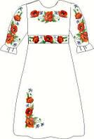 Заготовка плаття дитячого для вишивки нитками або бісером на натуральній тканині (на вік 5-12 років)