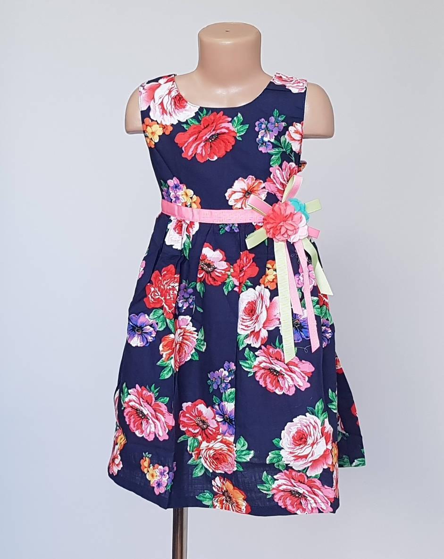 Платье для девочек в цветочный принт
