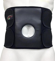 """Бандаж для поддержания спины и мышц брюшной стенки с отверстием под стому типа """"Стронг"""" Размеры:M,L,XL Белый"""