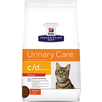 Hill's Prescription Diet c/d Feline Urinary Stress 4кг -корм для кошек с курицей  (2843)