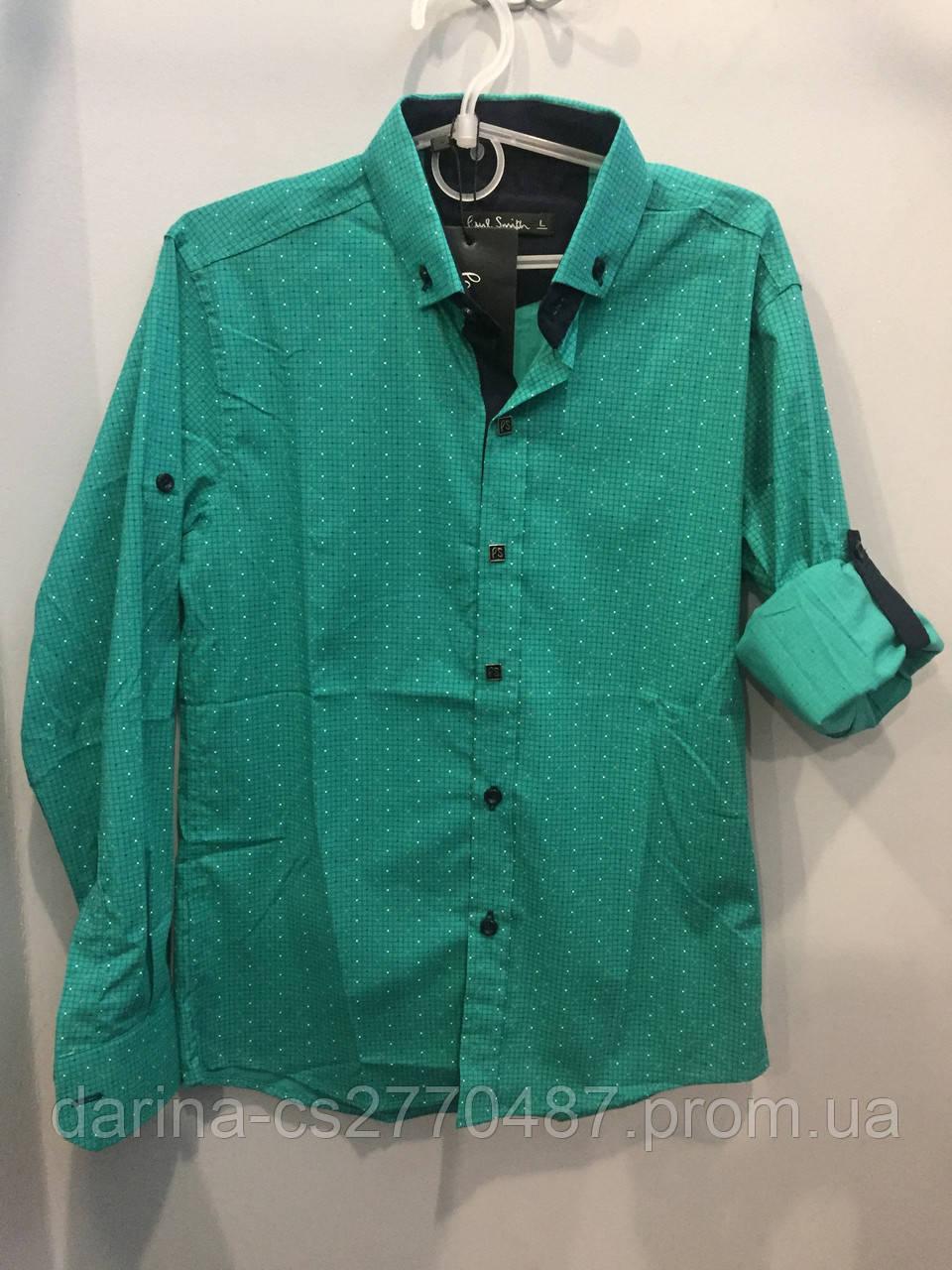 Стрейчевая рубашка на подростка