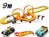 Гоночный трек Hot Wheels 9,15 м на батарейках