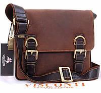 Сумка через плечо Visconti 3739 коричневая