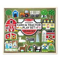 """Деревянный набор """"Ферма и трактор"""" MD14800, Melissa&Doug"""