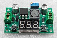 LM2596S DC-DC стабилизатор понижающий регулируемый 4-40В - 1.3-37В с ЖК экраном