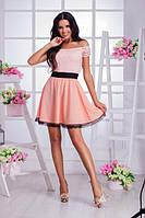 Летний костюм юбка + гипюровый топ (3 цвета)