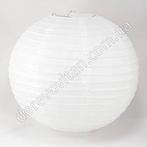 Бумажный подвесной фонарик белый (брак), 50 см