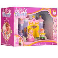 Игровой дом,замок с набором мебели принцессы, фигурки  2шт, трюмо, трон, в коробке
