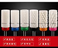 Насадка для фрезера керамическая цилиндр, барабан, бочка, фреза для опиливания гель-лака и геля