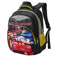 Рюкзак школьный для мальчика с принтом Тачки
