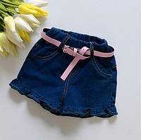 Детские шорты для девочки джинсовые легкие летние.