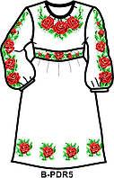 Заготовка для вишивання плаття дитячого з поясом (на 5-12 років) на тканині ГАБАРДИН