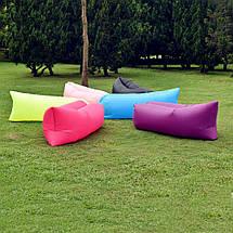 Надувной диван Lamzak, Ламзак hangout надувной гамак, кресло, матрас, черный, красный, синий, зеленый, желтый, фото 2
