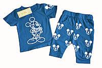 Детский комплект футболка и бриджи для девочки с Микки.