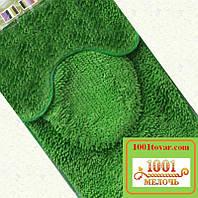 """Набор ковриков тройка из микрофибры """"Макароны или дреды"""" в ванную и туалет, 80х50 см.,  40х50 см. и 45х35 см."""