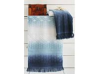 Полотенце махровое Arya Loft голубое