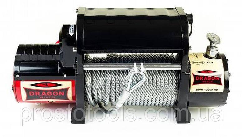 Лебедка со стальным тросом Dragon Winch DWM 12000 HDI, 24V