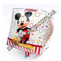 Фольгированные воздушные шары, форма: куб Микки и Минни Маус, 24 дюйма/60 см, 1 штука