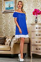 Летнее платье свободного кроя из вышитой ткани (3 цвета)