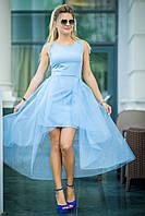 Голубое вечернее Платье Сюзет