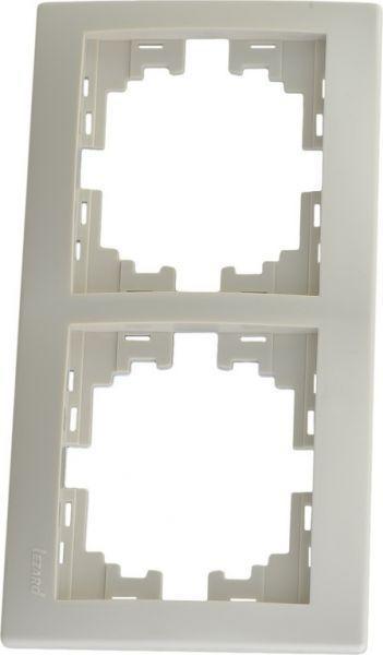 Рамка 2-ая вертикальная б/вст Lezard mira