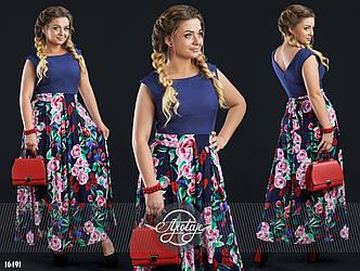 Платье больших размеров в расцветках - 16494