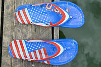 """Вьетнамки, шлепанцы, сланцы мужские легкие ЭВА, силикон """"Америка"""" Украина (Код: 790), фото 1"""