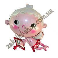 Фольгированные воздушные шары, форма: Амурчик, 34 дюйма/84 см, 1 штука