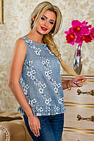 Легкая летняя блуза с красивым оформлением и интересной спинкой (2 расцветки)
