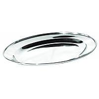 Овальная тарелка нержавеющая 30 см 9387