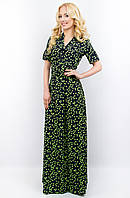 Женское длинное платье 674 салатовый