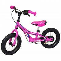 Беговел Alexis-Babymix WB006 pink, розовый, велобег с надувными колесами
