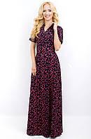 Женское длинное платье 674 красная бабочка